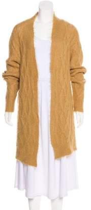 Dries Van Noten Alpaca Cable Knit Cardigan