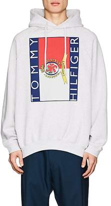 Vetements Men's Logo-Print Cotton-Blend French Terry Oversized Hoodie