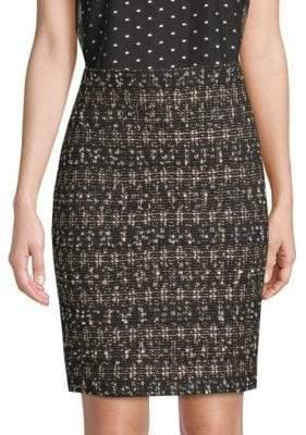 St. John Gilded Tweed Pencil Skirt