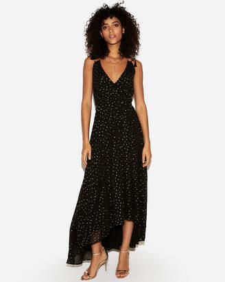 29a77f0563b3 Express Petite Tassel Tie Surplice Maxi Dress