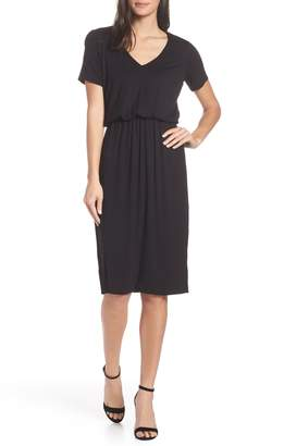 Charles Henry Bloused Knit Dress