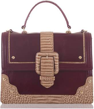 Brahmin Medium Francine Leather Satchel