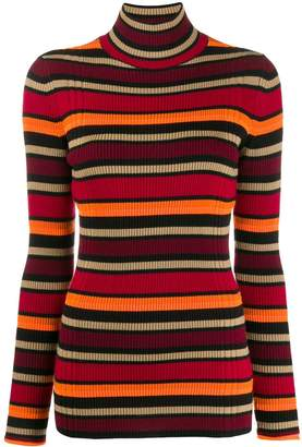 Victoria Victoria Beckham striped turtle-neck sweater
