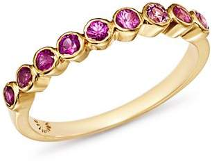 SheBee 14K Yellow Gold Ombré Pink Sapphire Band