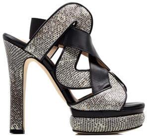 Chrissie Morris Audrey Black/White Sandal
