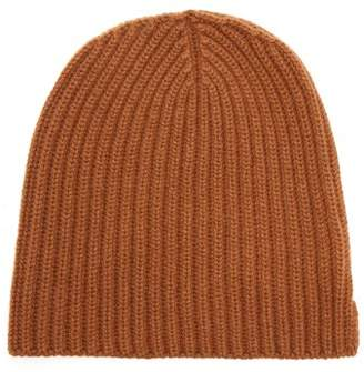 Thom Sweeney - Ribbed Knit Cashmere Beanie Hat - Mens - Camel