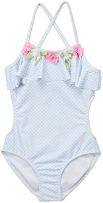 96a03e0a27bae Kate Mack For Biscotti (Girls 4-6x) Gingham Ruffle One-Piece Swimsuit