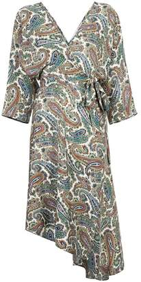 Diane von Furstenberg paisley dress