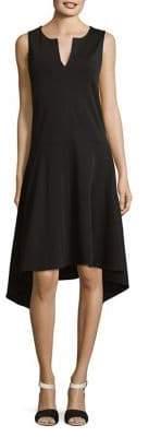 Joan Vass Sleeveless Cotton Handkerchief Dress