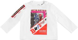 Burberry Printed Jersey Long Sleeve T-Shirt