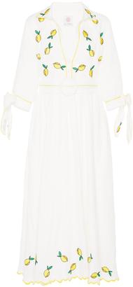 Gl Hrgel Lemon Embroidered Dress