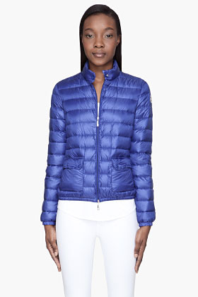Moncler Indigo blue quilted down Lans Jacket