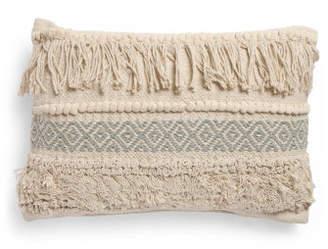 14x20 Vincent Textured Fringe Pillow