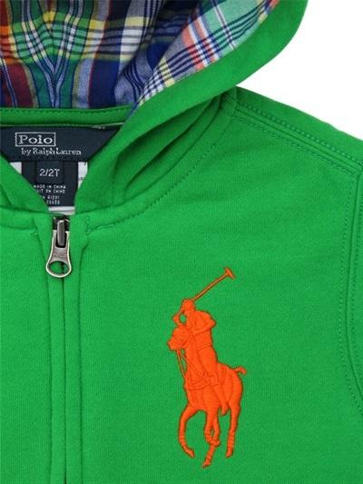 Ralph Lauren Hooded Fleece Full Zip Sweatshirt