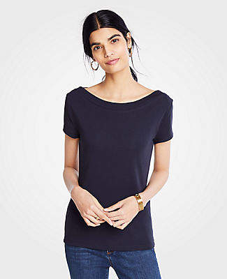 9f15c0dc1e Ann Taylor Boatneck Luxe Tee
