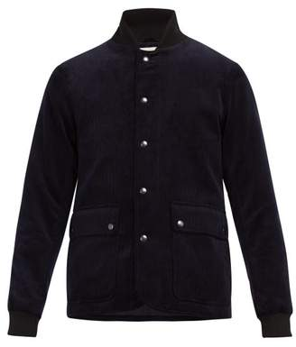 Oliver Spencer Berwick Cotton Corduroy Bomber Jacket - Mens - Navy