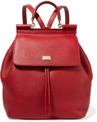 Dolce & Gabbana Sicily Medium Textured-leather Backpack