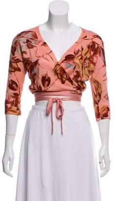 Dolce & Gabbana Printed Cropped Cardigan