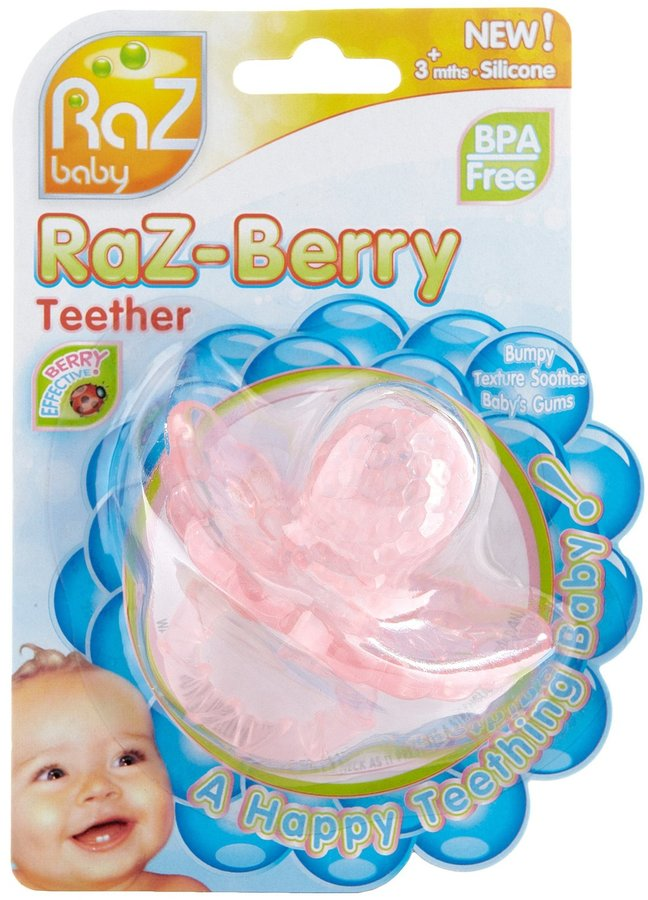 Razbaby RaZ - Berry Silicone Teether - Pink