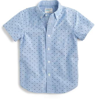 J.Crew crewcuts by Secret Wash Dot Short Sleeve Shirt