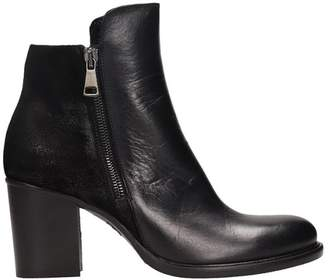 Strategia Black Suede And Calf Leather Ankle Boots