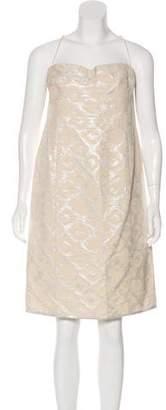 Gianfranco Ferre Metallic Sleeveless Dress