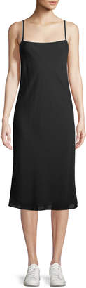 Theory Silk Combo Slip Dress
