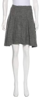 Balenciaga A-Line Linen Skirt