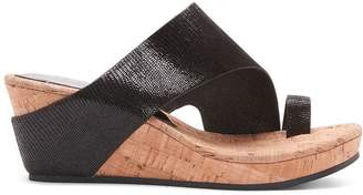 Donald J Pliner GYER2, Distressed Metallic Wedge Sandal