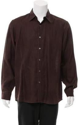 Michael Kors Woven Button-Up Shirt