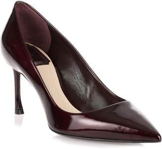 Christian Dior Essence 70 bordeaux glittery patent pump