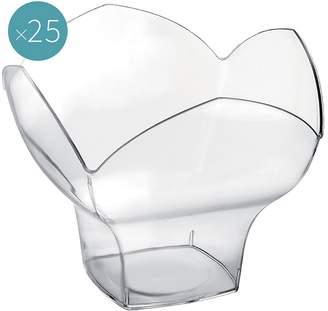 clear Gold Plast Spring Plastic Dessert Bowl (Set of 25),