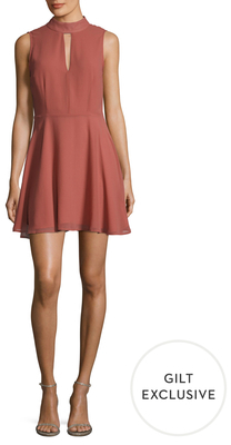 Mockneck Cut-Out Flare Dress $88 thestylecure.com