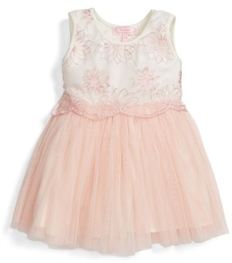 Infant Girl's Popatu Embroidered Tulle Dress $34 thestylecure.com