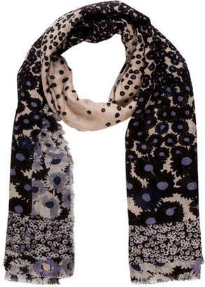 Diane von Furstenberg Floral Printed Scarf $65 thestylecure.com