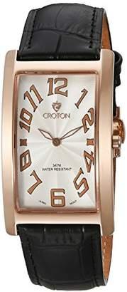 Croton Men's CN307533RGWH ARISTOCRAT Analog Display Quartz Black Watch