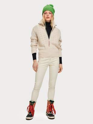 Scotch & Soda Zip-Up Cable Knit Sweater
