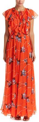 Sachin + Babi Noir Silk Maxi Dress