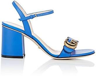 Gucci Women's Marmont Leather Sandals - Md. Blue