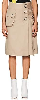 Sacai Women's Lace-Up Cotton Midi-Skirt - Beige