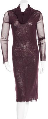 c Mesh Long Sleeve Dress $95 thestylecure.com
