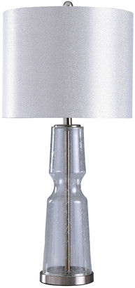 Stylecraft Style Craft 33In Clear Seeded Table Lamp