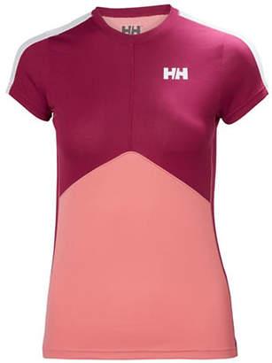 Helly Hansen Stripe Cuff Short-Sleeve Top