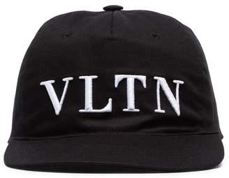 Valentino Black VLTN Logo Baseball Cap
