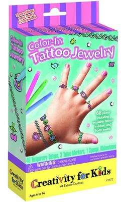 Creativity For Kids Colour In Tattoo Jewellery Mini Kit