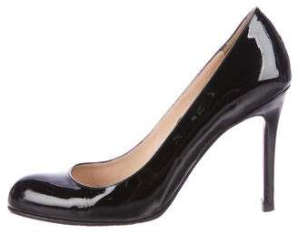 Christian Louboutin Patent Leather Round-Toe Pumps