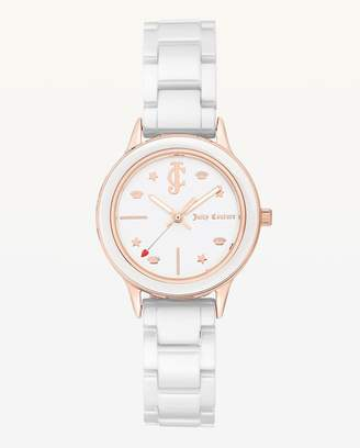 Juicy Couture JC White Ceramic Watch