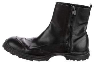 CNC Costume National Leather Combat Boots