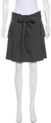 Mason Pleated Belted Skirt