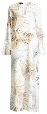 Lafayette 148 New York Wilmer Palm Print Dress